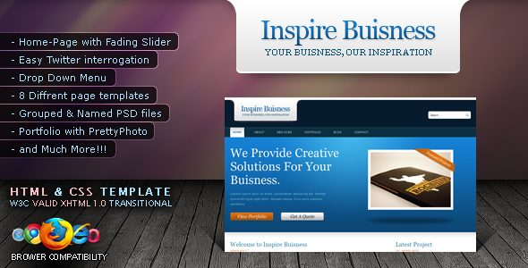INSIGHT - 10 in 1  Portfolio and Inspire Buisness -XHTML & CSS Template