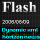 Dynamic xml news with horizon move effect 