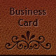 Elegant Leather Business Card