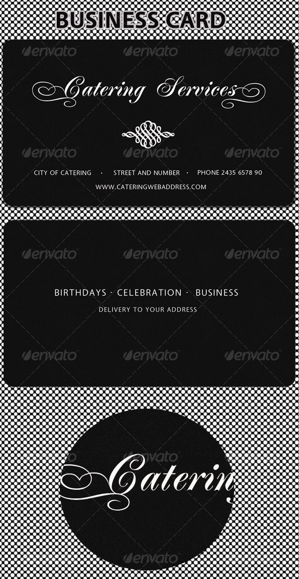 Catering Services Business Card - GraphicRiver Item for Sale