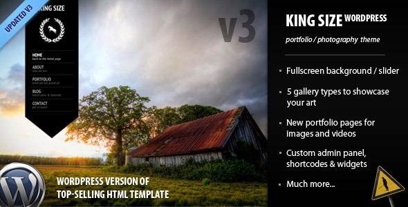 King Size - fullscreen background WordPress theme