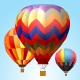 9 Vector Animation Hot Air Balloons