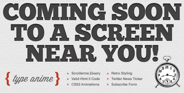 Type Anime - Scrolling Html5 Coming Soon Template by josweb ...