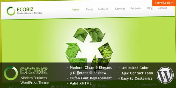 ECOBIZ - Modern Business WordPress Theme