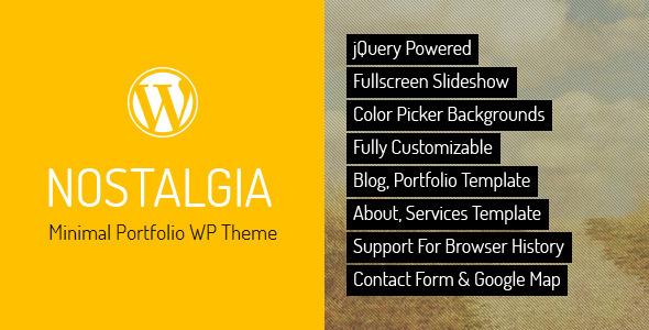 Nostalgia - Responsive Portfolio WordPress Theme by QuanticaLabs ...