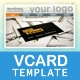 XML Cloud Vector VCard Template