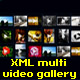 Dynamic multi xml video gallery