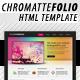 Chromatte Folio HTML Template - ThemeForest Item for Sale