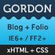 Gordon - HTML Blog / Portfolio - ThemeForest Item for Sale
