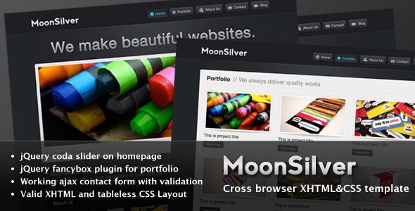 MoonSilver xHTML CSS (2010) ThemeForest