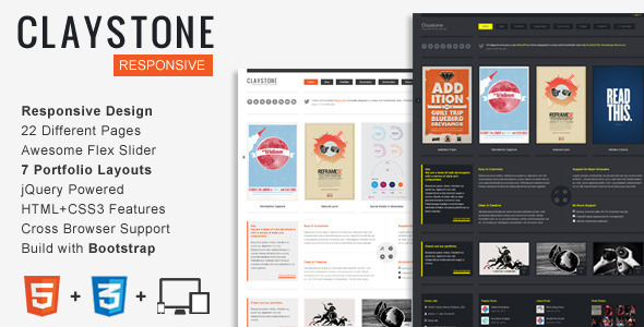 Claystone - Responsive HTML Template by ZERGE | ThemeForest