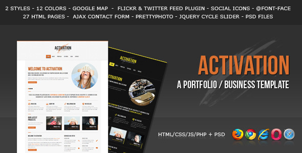 Activation a business portfolio template by hedgehogcreative activation a business portfolio template corporate site templates accmission Gallery