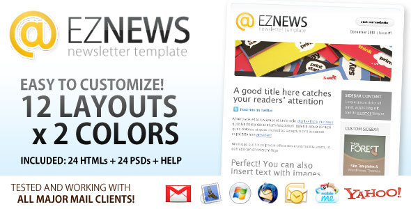 EZ News Newsletter Template By Shoptemplate ThemeForest - Magento newsletter templates