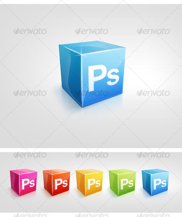 5 Color Cubic Icons