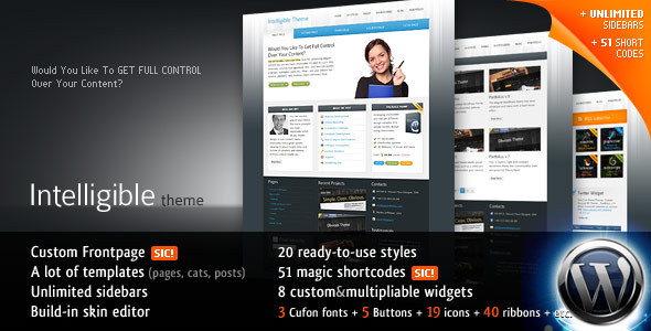 Intelligible WordPress Theme