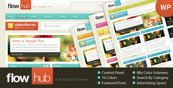 5 latest Wordpress themes from ThemeForest 7/6/2010