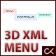 3D XML Menu