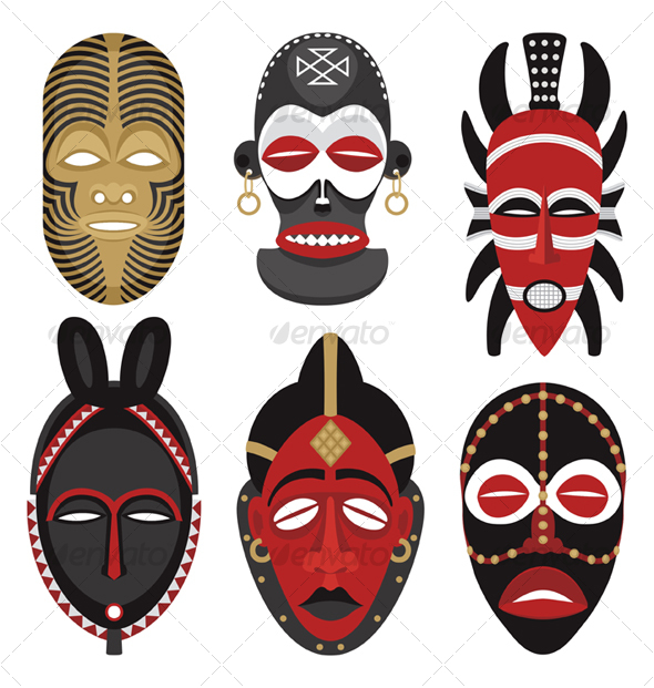 african mask templates special