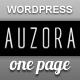 Auzora - One Page Portfolio and Business theme - ThemeForest Item for Sale