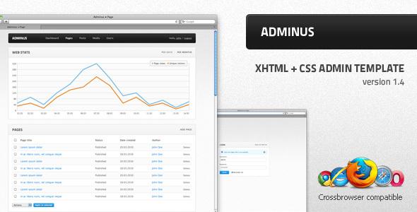 Adminus v1.4 - admin theme - Themeforest RIP