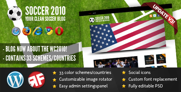 Word Cup WordPress Theme
