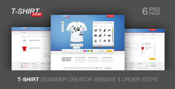 T Shirt Designer Creator by ClaPat | ThemeForest
