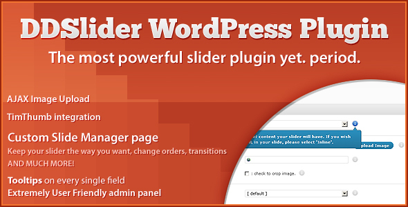DDSliderWP - 11 Transitions - Slide Manager Panel