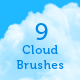 9 Cloud Brushes for Photoshop - GraphicRiver Item for Sale
