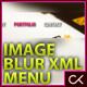 MASKED IMAGE BLUR XML MENU