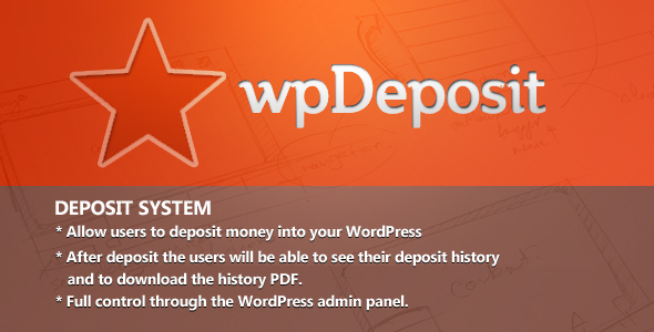 WordPress Deposit System