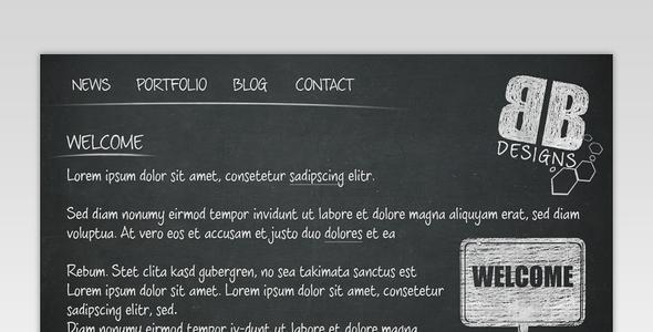 Blackboard Portfolio HTML Template
