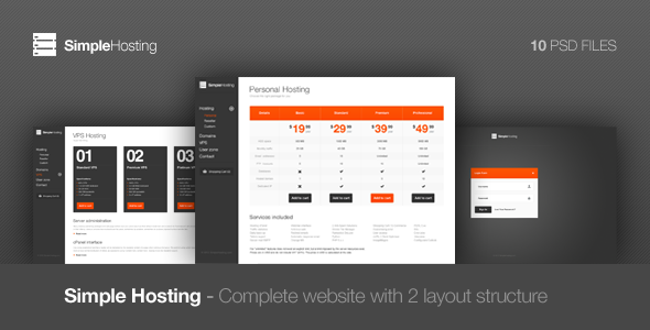 Simple Hosting - Modern template by ClaPat | ThemeForest