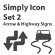 Simply Icon Set 3 (Signage)