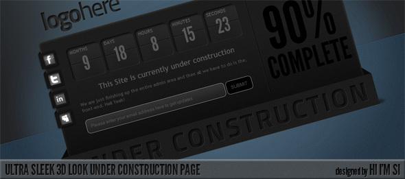 Ultra Sleek 3D Look Under Construction Page