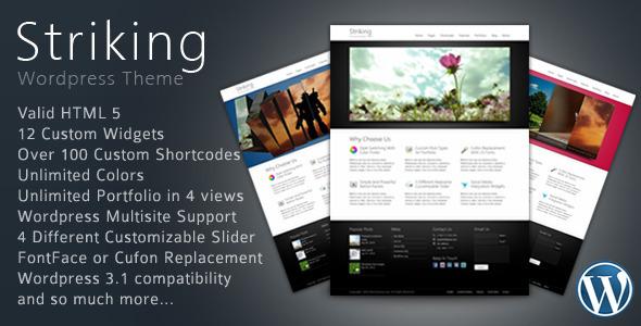 Striking Premium Corporate & Portfolio WP Theme