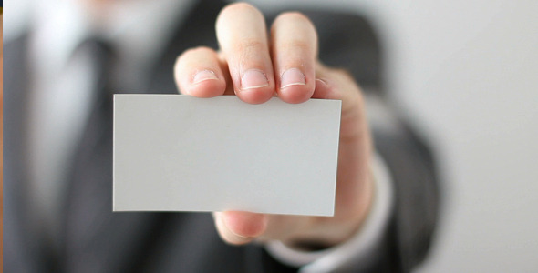 Businessman showing blank business card by logomaster videohive accmission Gallery