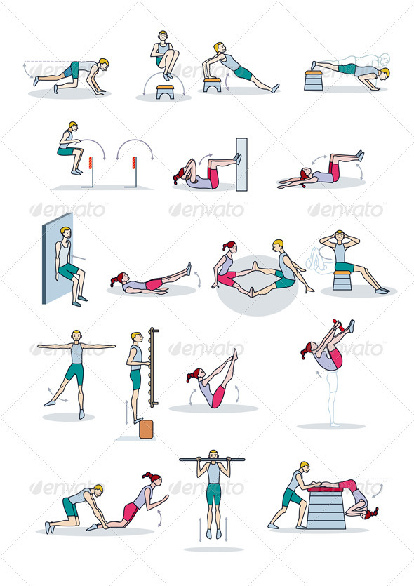 Strength Training Workout Sports Activity Conceptual
