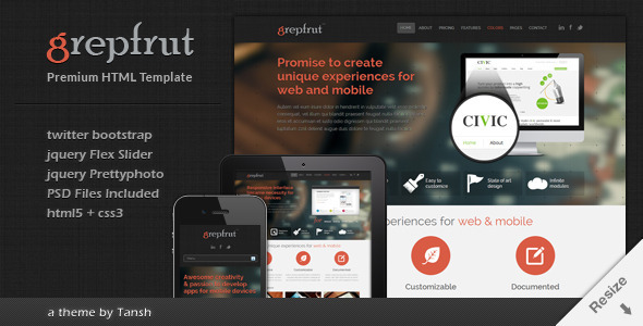Grepfrut responsive software html template by tansh themeforest grepfrut responsive software html template software technology maxwellsz