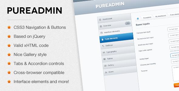 Pure Admin - Modern & Clean Admin Template by webtunes | ThemeForest