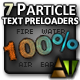 7 Particle Text Preloaders