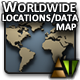Worldwide Locations/Data Map