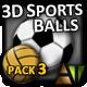 3D Sports Balls - Pack #3