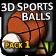 3D Sports Balls - Pack #1