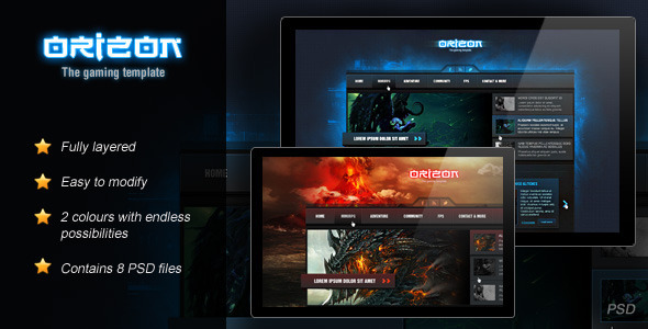 orizon the gaming template by skywarrior themeforest
