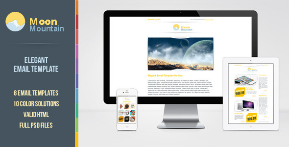 MoonMountain Email Template by web4pro   ThemeForest