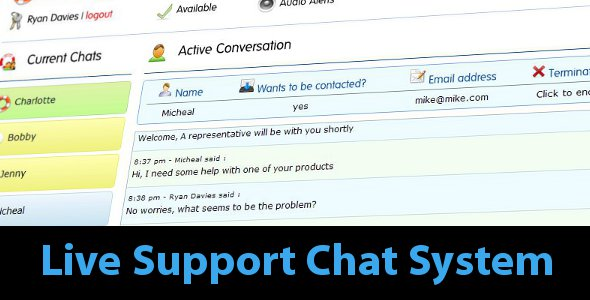 Live Support Chat System