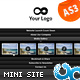 Coming Soon Accordion Website Template 07 AS3