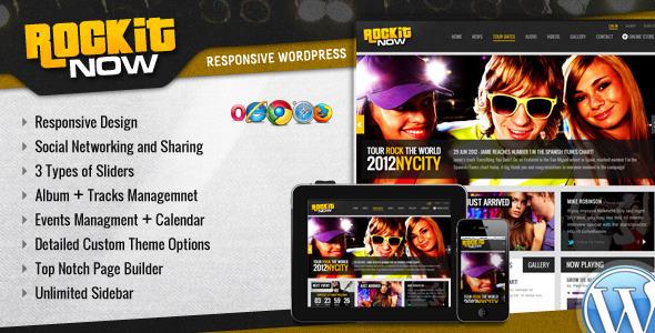 Rockit Now - Music Band Wordpress Theme by Chimpstudio | ThemeForest