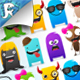 Character & Monstor Creation Kit | Create Your Own | PSD containing Android Droid Icon Template!