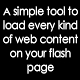 Integrated Flash Popup